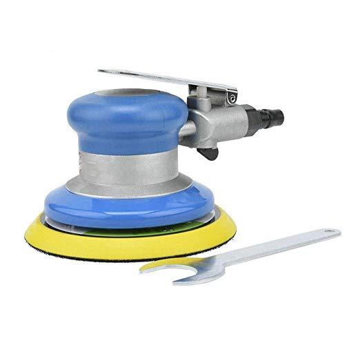 Mozusa Practica portátil neumáticos manuales de papel de lija Rectificadora, 5 pulgadas de disco neumático de la máquina pulidora, herramientas neumáticas de 125 mm Máquina de lijado a mano Industrial