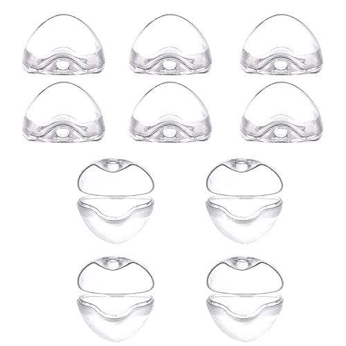 Schnullerbox für Baby,10Pcs Transparent Schnullerbox,Schnullerbox Tragbar,Schnuller Vorratsbehälter,Schnuller Box Staubdicht,Transparent Staubdicht Box
