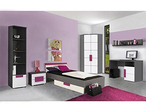 Jugendzimmer Libelle Komplett Verschiedene Ausführungen Kinderzimmer Möbel (Jugendzimmer Libelle 7tlg mit Eckkleiderschrank)