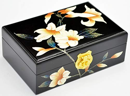 Laogg Caja Joyero Chino,Caja de joyeríacerradura de...