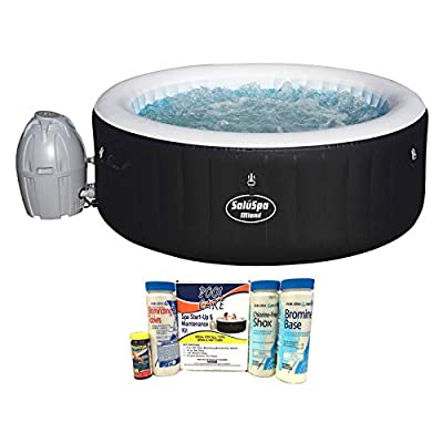 Bestway SaluSpa 4-Person Inflatable Portable Hot Tub w/Chemical Maintenance Kit