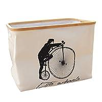 北欧スタイルの家庭白い服ストレージバスケット、長方形ファブリック洗濯物用かごシンプルなポータブル折りたたみランドリーバスケット (Color : Gray)