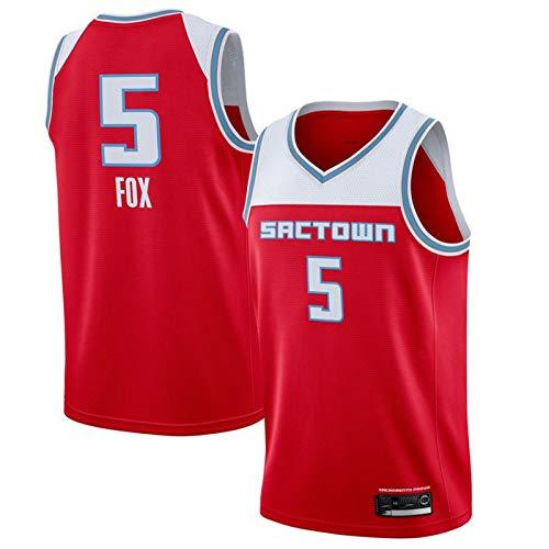 WXZB Camiseta de baloncesto reina # 5 zorro de baloncesto, transpirable y de secado rápido, unisex, para varios deportes, color rojo-L