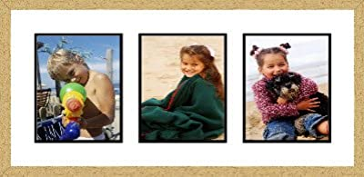 Gold Collage Picture Frame - 3 openings for 8X10 photos