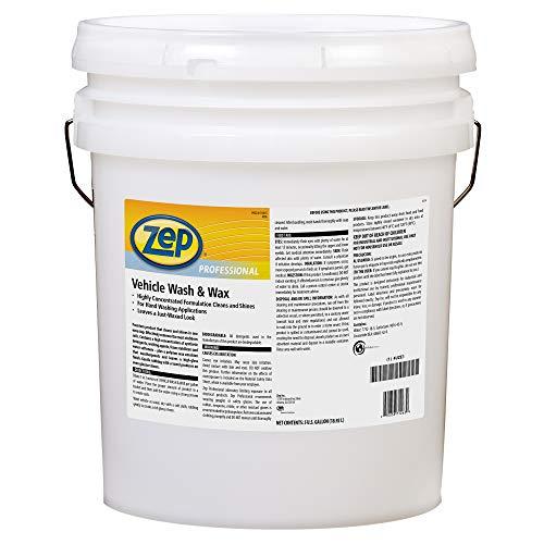 "Zep Vehicle Wash & Wax 5 Gallon 1041582 (1 Bucket) Leaves a waxed, shiny, ""like new"" surface"