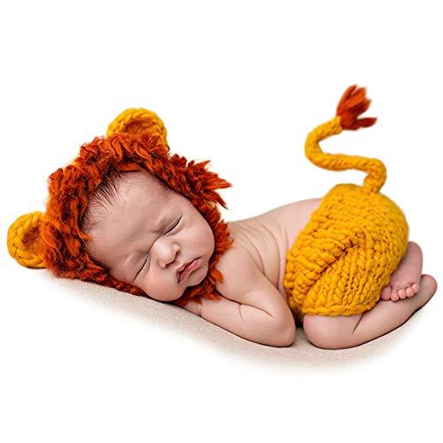 Adorel Atrezzo Fotografia per Bebé Recién Nacido León Amarillo