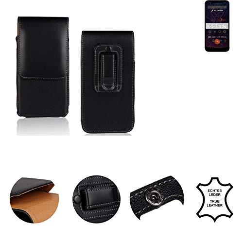 K-S-Trade® Holster Gürtel Tasche Für Allview Soul X5 Mini Handy Hülle Leder Schwarz, 1x