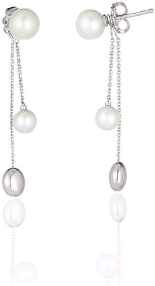 Chimento,orecchini pendenti,in  oro bianco con perle 1O01461PP5000