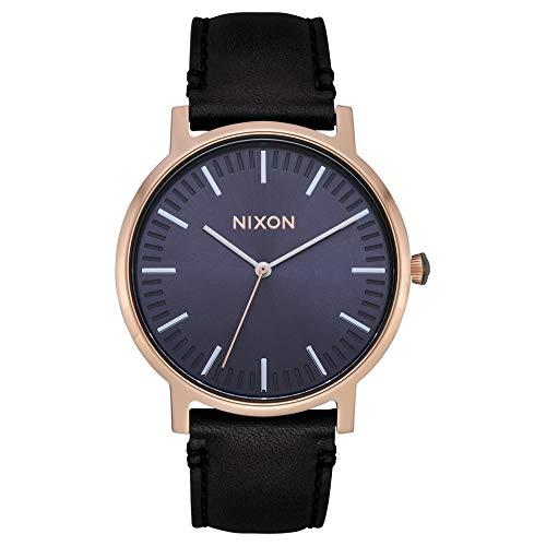Nixon The Porter Reloj para Mujer Analógico de Cuarzo japonés con Brazalete de Piel de Vaca A10583005