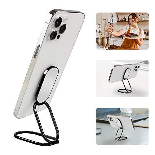 Soporte de anillo para teléfono celular, soporte de dedo APEKX, rotación de 360 ° y agarre de metal con tapa de 180 °, compatible con Android y iPhone – Gun Metal
