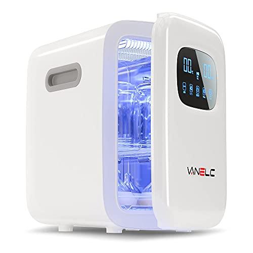 Baby Bottle Sterilizer and Dryer, 18L UV Light Sanitizer Box Kills Up to 99.9% of Bacteria & Viruses, Clinically Proven 360 Degree Sterilizer for Newborn Feeding Bottles, Home Disinfection, BPA-Free