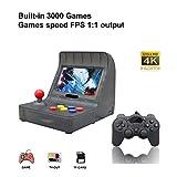 Anbernic Consolas de Juegos Portátil , Consola de Juegos Retro Game Console 4.3 Pulgadas 3000 Juegos TV-Output Videojuegos Portátil- Black