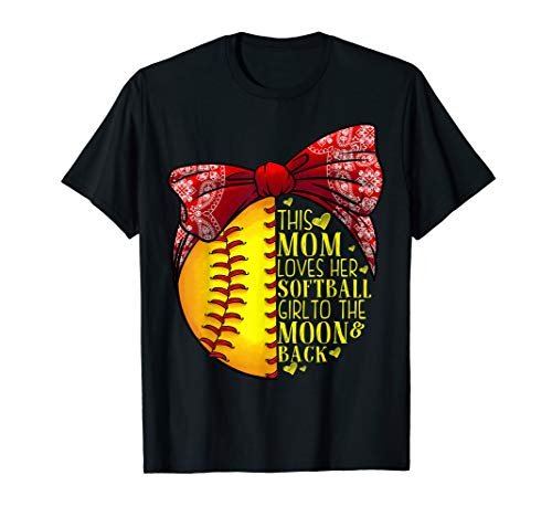 Funny Softball Gift Mom Women Pitcher Catcher Girls Lovers T-Shirt