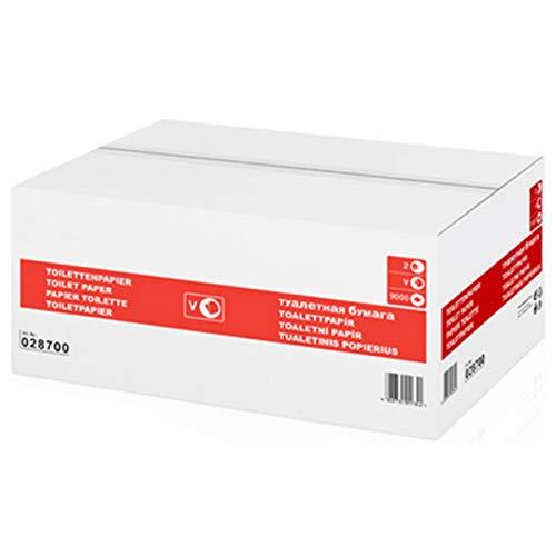 wepa 028700 Einzelblatt-Toilettenpapier Super Soft, 2-lagig, weiß