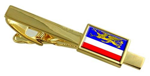 Stadtzentrum von Rostock Deutschland Fahne Gold Krawattenklammer graviert Personalisierte