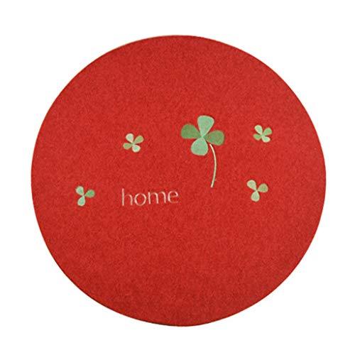Vloerkleed en tapijt, antislip, tapijt, rond, voor slaapkamer, computer, draaistoel, eettafel, mand, antislip, tapijt, rond, comfortabel