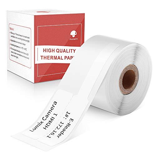 Phomemo M110対応 ラベルシール 感熱ロール紙 30mm*25mm F形タイプ 100枚入り/巻 感熱ラベルプリンター用 業務用ハンドラベラー 印刷用紙 接着剤ある 通常再剥離 宛名/DVDラベル/手書き/値札/アドレス/バーコードも可能