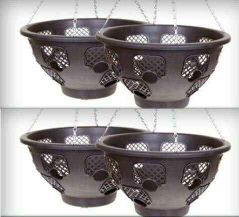 Set of 4 x 15' Easy fill Hanging Baskets
