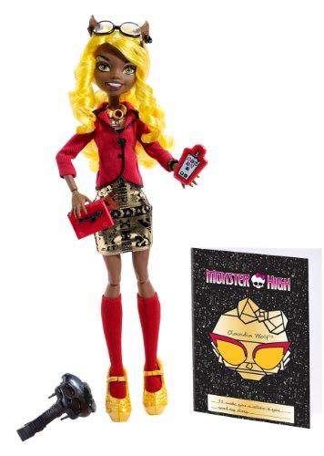 Monster High Mattel BLX06 – Lumière d'effrayante sur Loup Clawdia Deluxe avec Accessoires