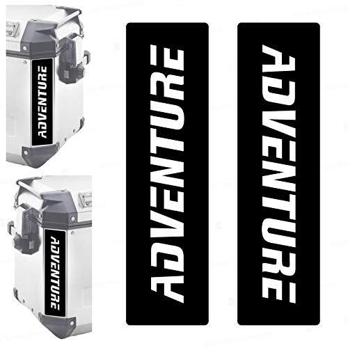 2 adhesivos reflectantes compatibles con maletas laterales Givi Trekker Outback 37L 48L (negro)