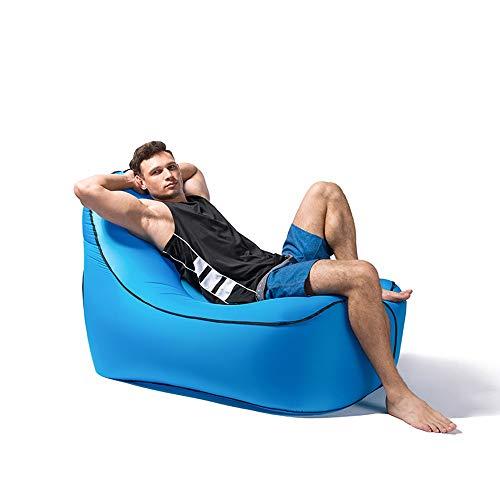 LF-chair Ultraleichte Tragbare Air Sofa Lässige Lagerung Faule Couch Outdoor Aufblasbare Liegestuhl Für Hinterhof Am See Strand Reisen Camping Picknicks Musik Festivals (Color : Blue)