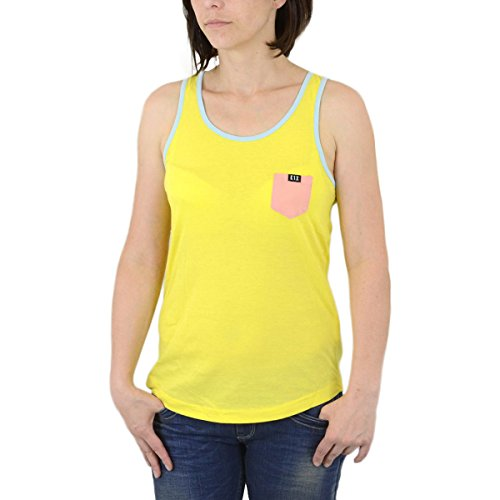 K1X Frauen Pocket Tank Top Yellow Peach - S