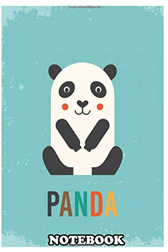 Notebook: Retro Panda , Journal for Writing, College Ruled Size 6