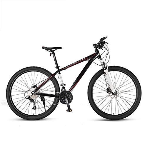 GUOHAPPY Mountain Bike A 33 velocità, Freni A Disco A Doppia Idraulica da 29 Pollici E Altre Bici Ammortizzanti, Adatto A Persone Alte 165 Cm-195 Cm, con Telaio Ultraleggero,Black Red