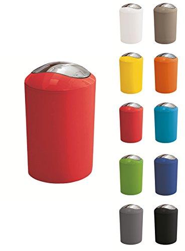 Kleine Wolke Abfalleimer mit Schwingdeckel, glänzend, 5 l, Rot