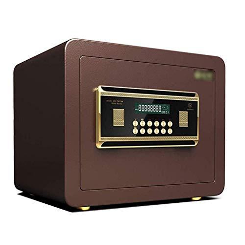Caja fuerte de primera calidad, aprobada por seguros, pernos de bloqueo motorizados de 32 mm Cajas fuertes de oficina a prueba de fuego, alta, 25CM, 30CM, 45CM Pantalla LCD Caja de llaves segura (Tama