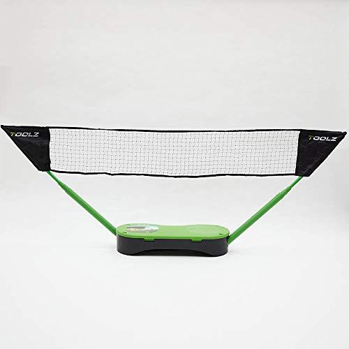 TOOLZ Portable 2in1 Tennis- and Badminton Net – Mobiles Netz für Badminton, Tennis oder Volleyball – Mit unterschiedlichen Schlägern, Bällen & 2 Netzen