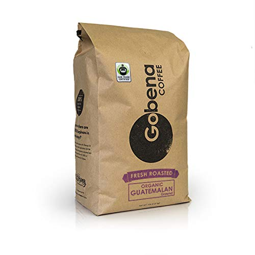 5lb Fair Trade Organic Guatemalan Medium Roast Ground Coffee, 100% Arabica Specialty Coffee, 80 ounces, 5 pounds, Bulk Coffee