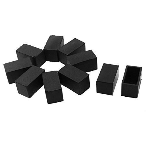 Sourcingmap en Forme Rectangle Mobilier Table Chaise Jambe Pied Capuchon Couverture Protecteur Noir 10pcs