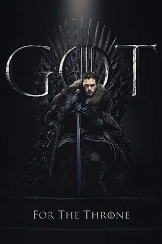 Game of Thrones - Poster - Staffel 8 - Jon Snow Final Season + Ü-Poster