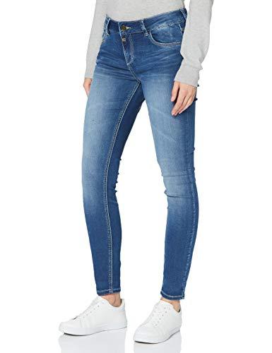 Timezone Damen Tight AleenaTZ Jeans, Blue Denim wash, 28/30