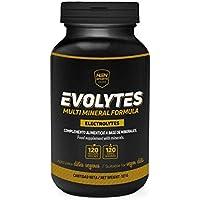 Sales Minerales Electrolitos en pastillas de HSN Sports - Evolytes Plus - Sin Cafeína, Hidratación para Corredores, Ciclismo, Evitar Calambres, Sin Gluten, Sin Lactosa, Apto Vegano, 120 cápsulas