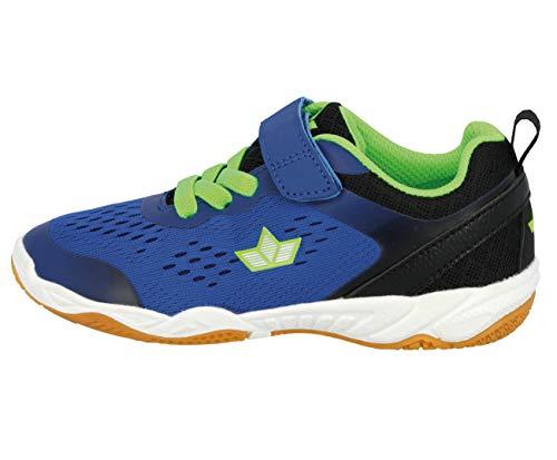 Lico Unisex - Kinder Sportschuhe Key VS,Trainingsschuhe,lose Einlage, indoorschuhe Hallenschuhe Fitnessschuhe,blau/Marine/Lemon,33 EU