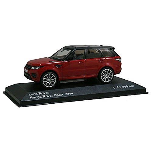 Land Rover Range Rover Sport, metallic-rot/schwarz, 2014, Modellauto, Fertigmodell, WhiteBox, 1:43