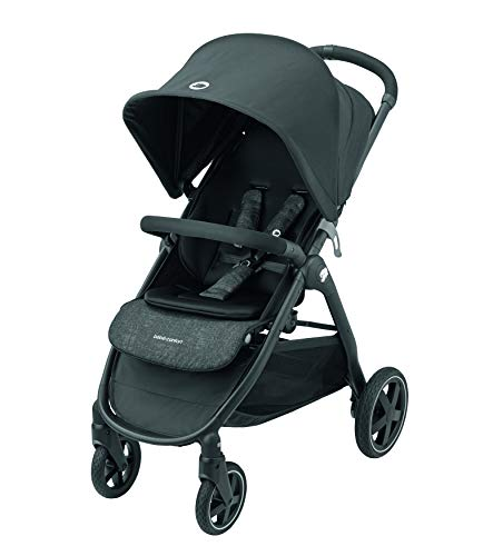 Bébé Confort Gia Kinderwagen, leicht und kompakt, zusammenklappbar mit einer Hand, neigbar bis zur Schlafposition, leicht zu handhaben, von 0 Monaten bis 22 kg, 4 Jahre, Schwarz