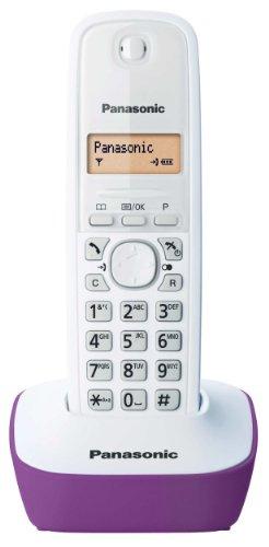 Panasonic KX-TG1611FRF DECT-Schnurlostelefon ohne Anrufbeantworter, Violett/Weiß