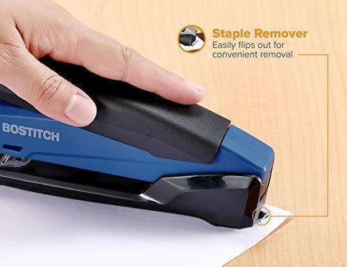 Bostitch Office Executive Stapler - 3 in 1 Stapler - One Finger, No Effort, Spring Powered Stapler, Navy Blue Photo #5