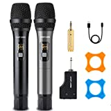 Rechargeable Wireless Microphone Karaoke Dual Microphone Wireless Mic,for Home Karaoke, Singing, DJ, Churching, Presentation