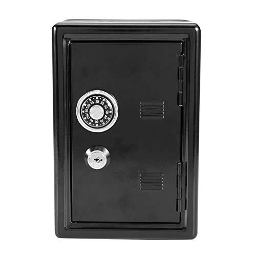 OUKENS Caja de Seguridad para niños con Cerradura y Llave con código Digital, Almacenamiento de Monedas y Billetes Regalos para niños(Negro)