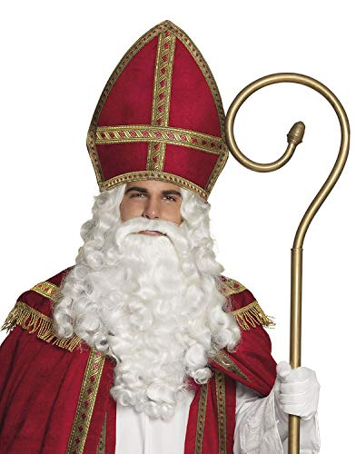 Boland 56841 Mitra Sankt Nikolaus, Rot/Gold, 35 x 33 cm