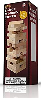 Forever Toys Large Wood Tower Game 48 Pieces