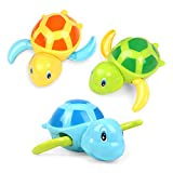 YiTTOO Bath Toys for Toddlers Age1 2 3 4 5 Years Old,Pool Toys for Kids,Baby Funny Wind Up Swimming Turtle Bath Toy,Cute Floating Bathtub Water Toys,Gift for Preschool Child Boys Girls (3 Pcs)