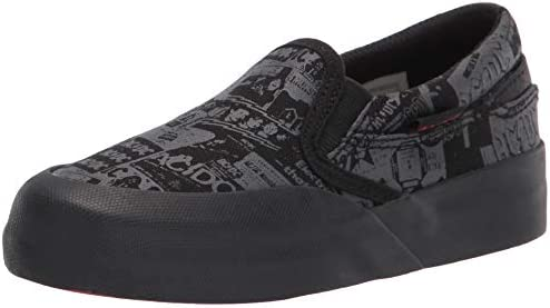 DC Boy s Infinite Slip on Skate Shoe AC Black 5 5 Big Kid product image