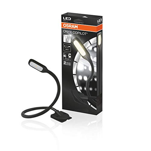 OSRAM ONYX COPILOT L+7, LED-Leseleuchte für den Fahrzeuginnenraum zur dauerhaften Montage, ONYX L+7, Faltschachtel (1 Stück)