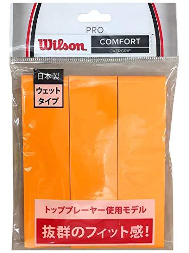 Wilson(ウイルソン) テニス バドミントン グリップテープ PRO OVERGRIP(プロオーバーグリップ) 3個入り オレンジ WRZ4020OR ウィルソン
