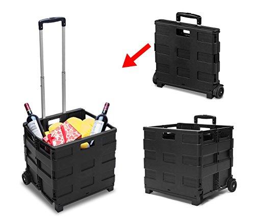 MEDIA WAVE store 334115 Carrello Trolley portaspesa Pieghevole in plastica Portata Max 25 kg
